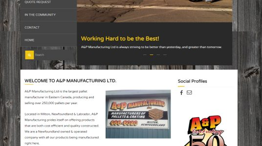 A&P Manufacturing Ltd.