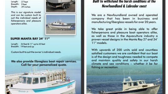 Manta Ray Boats Rack Card